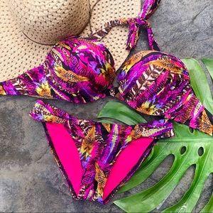 Victoria's Secret Feather Bombshell Bikini 34D/S
